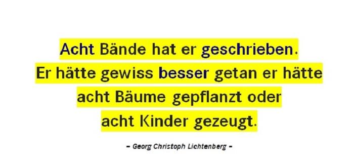 Georg Christoph Lichtenberg mit Alternativtips zum Schreiben