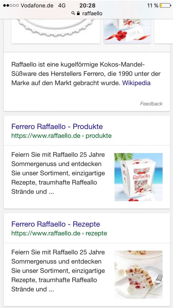 Google-Thumbnails Suchanfrage Rafaello