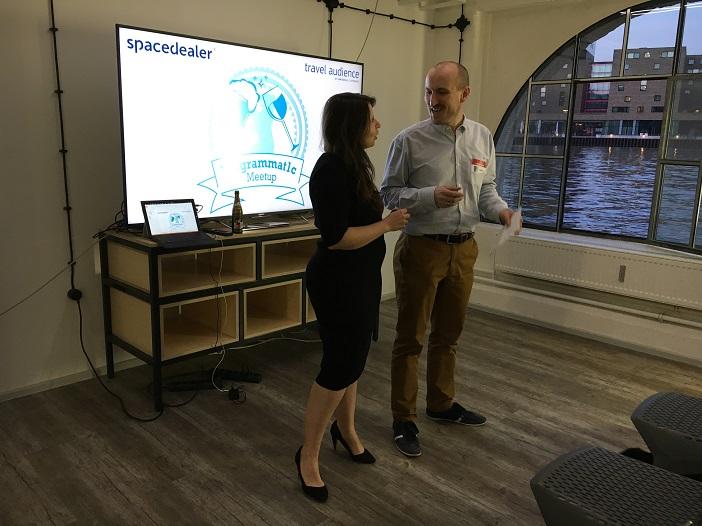 Start des Pr0grammat1c Meetups mit Dorota Karc sowie Event-Erfinder Andreas Kurtz