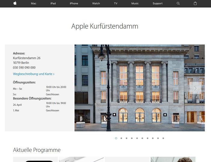 Unternehmensinfo Apple am Kurfürstendamm