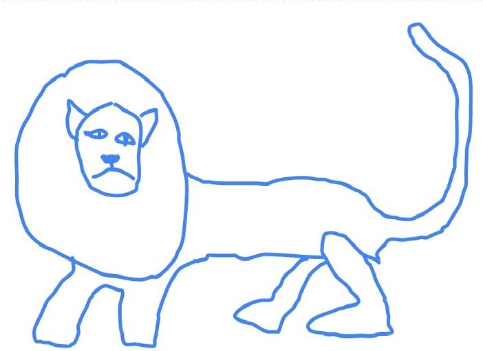 Autro Draw mit Google Löwe