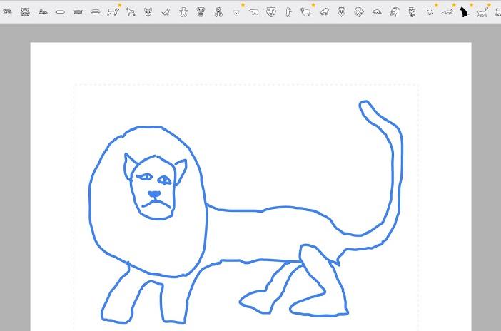 Google Auto Draw - der Löwe, der ein Dackel war