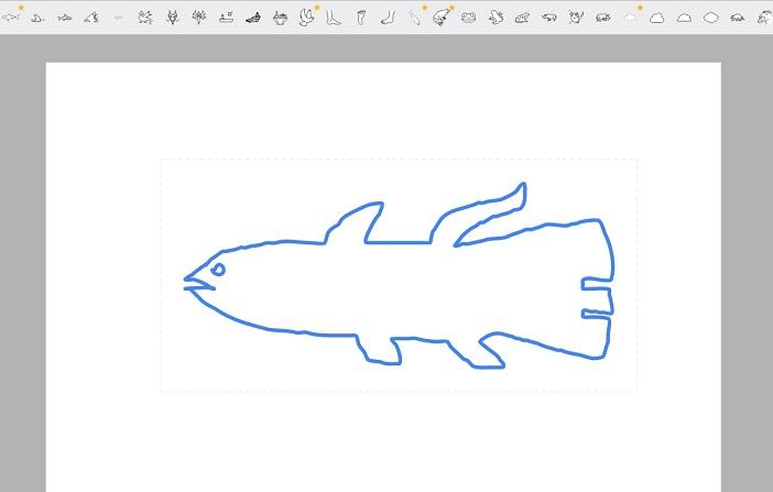 Google Auto Draw: Ein als Quastenflosser getarnter Hai