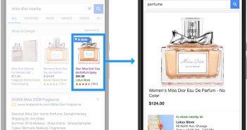 So sieht das aus: Local Inventory Ad von Google und Local Storefront (Copyright @Google)