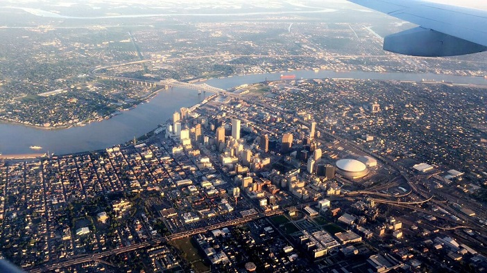 New Orleans von oben, Collision 2017