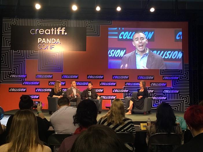 Die creatiff-Bühne mit Kirsten Ward, Mark Krolick und Matt Staneff