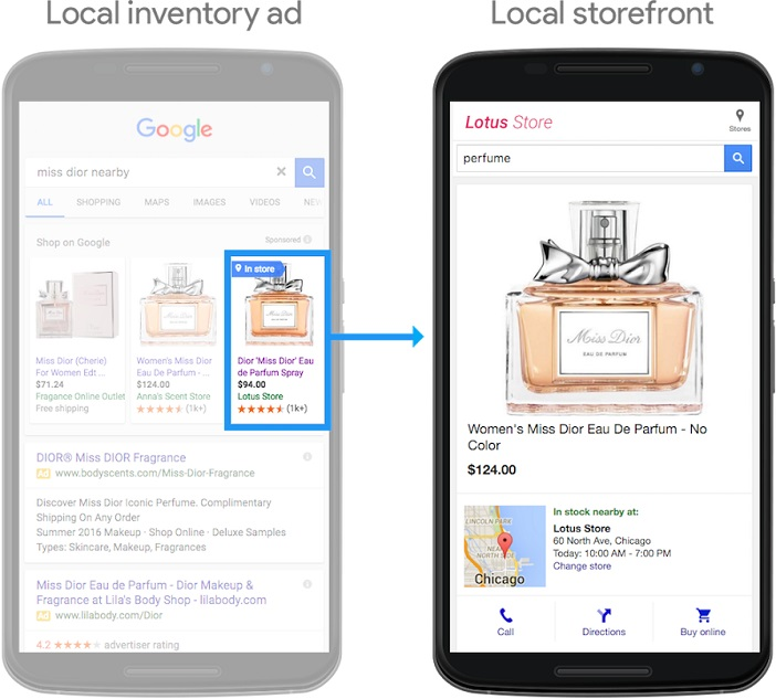 Local Inventory Ad und Local Storefront by Google (Copyright @Google)