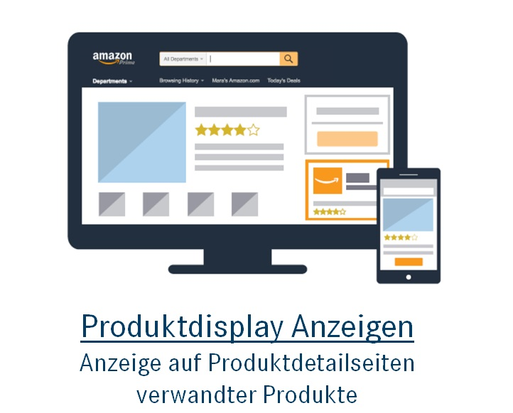 Amazon Ads: Produktdisplay Anzeigen