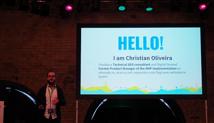 Christian Oliveira auf dem Searchmetrics Summit 2017