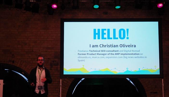 Christian Oliveira auf dem Searchmetrics Summit 2017