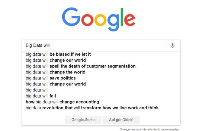 Big Data 2018 – Weltverändernd? Tot der Customer Segmentierung? Total Loser?