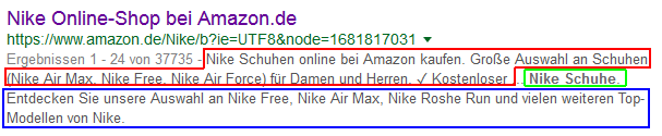 Ultralange Meta-Description von Google
