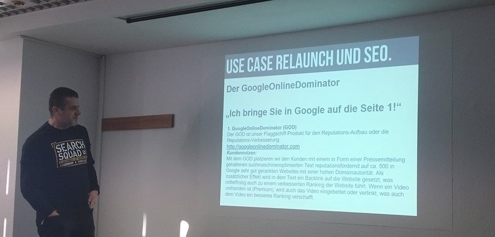 Stefan Godulla und der Google Online Dominator