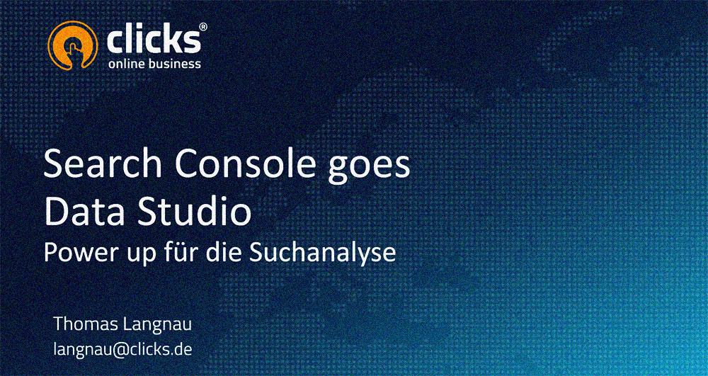 Google Search Console goes Data Studio