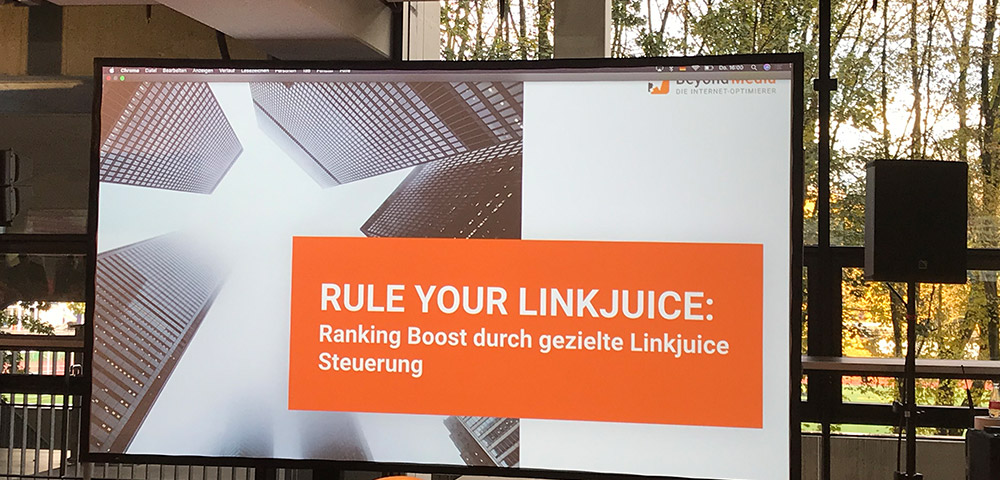 SEO-Day, Rule your LinkJuice - René Seidel