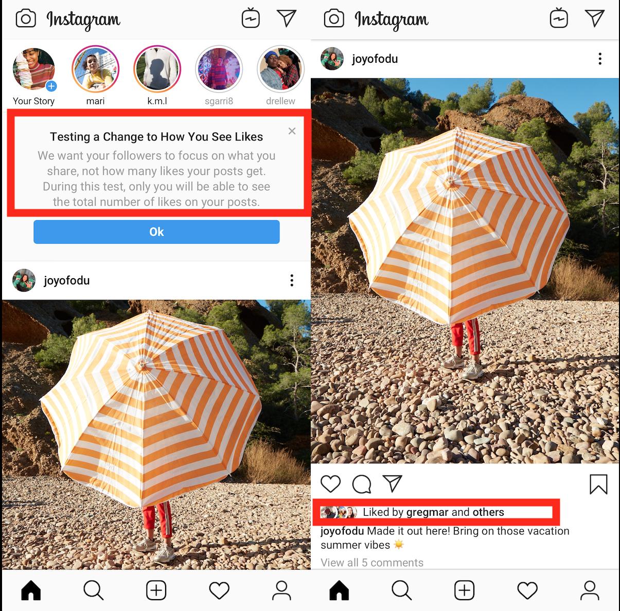Instagram möchte likes zukünftig verbergen