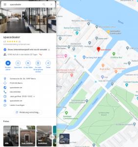 Google Maps spacedealer