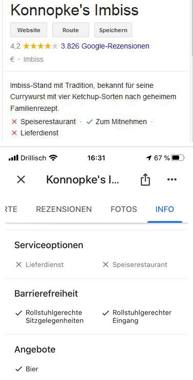 Attribute Desktop und Mobile