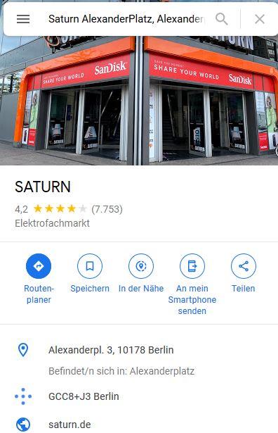 Hauptkategorie Saturn
