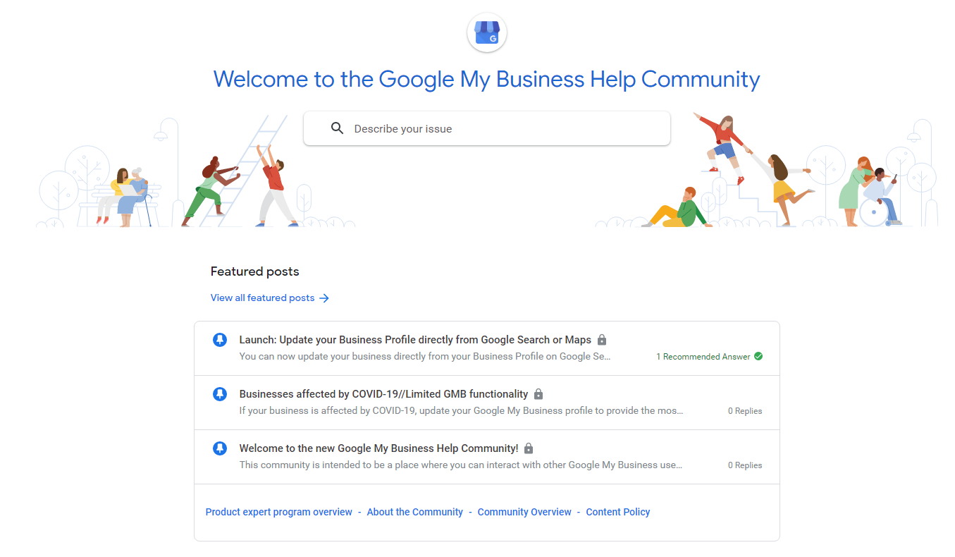 GMB help community